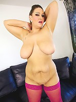 Dani Amour is back for some more hardcore bbw sex action. This hot blonde plumper babe absolutely loves to show off her cock sucking skills. Her British accent is a sure turn on and her big round natural boobies and her fat chubby belly get played with during some hot belly worship.