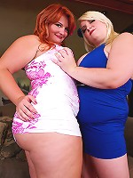 Scarlett Rouge and Tiffany Star had just gotten home and were looking at the sexy clothes they had just gotten when they heard a noise from the back door. They went to investigate and noticed a peeping tom trying to get inside