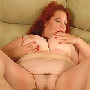 Charming redhead plumper tests brand-new sex toy
