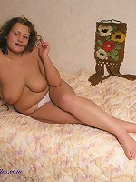 BBW posing in white panties