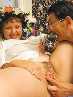 Yummy fatty deals with a dildo and a real cock