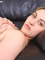 Luscious young fatty takes off her sexy underwear