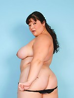 Huge Asian schoolgirl modeling her nice curvy body