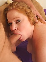 Blonde plumper pinching her pink nips while getting fucked