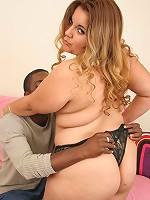 Blonde bbw getting some hard black dick
