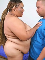 Naughty black mature having her fat pussy pounded