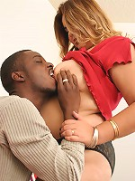 Blonde BBW gets nailed by a black stud