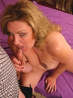 Matured bbw CC showing off her big fat pussy and crams it with a big juicy man pole