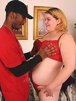 Blonde bbw Drew takes it deep and hard from a huge black schlong by humping on top