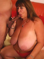 Horny bbw Mercy satisfied by a horny hunk and taking hard cock shoving in her cunny