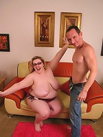 Luscious blonde bbw Holli playing with her wet snatch before getting rammed by riding on top