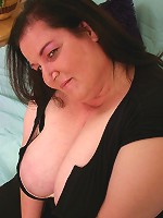 Naughty bbw Sassy seduces a guy with her big tits and takes cock cramming and cum glazing in her gob