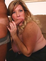 Lovely bbw Deedra loving fat cock by stuffing it in her mouth and fat pussy hole