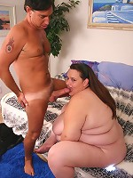 Horny and curvy chick Ann hooks up with a bbw loving stud and gets her tight and fat pussy nailed
