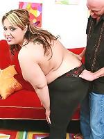 Horny BBW model Tasha Starzz taking hard cock cramming and cum hosing from a huge dick live