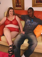 Naughty mature BBW Charlly picks up a black hunk from the streets and take him home to fuck his cock