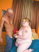 Horny BBW Ruby Passion wastes no time in getting it with this horny guy and dishes out her snatch