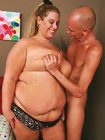 Fat Lilly West dishes out an excellent oral before she gets spread eagled and dicked well