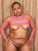 Massive ebony Alize does a little striptease and lures a man into pounding her eager muff