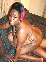 Big ass ebony BBW Black Cherry gets balled by riding on top of a huge black cock