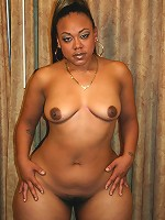 Cute ebony bbw model spreading her thick black thighs wide and taking a black cock in her cooze