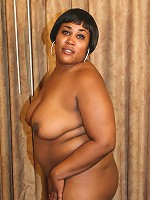 Sexy ebony BBW strutting her fat ass and riding a cock on top to take it in her cunt