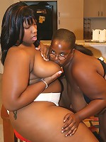 Massive ebony bbw babes taking turns in licking cunts and toy fucking their holes