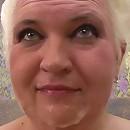 Mature plumper loving a creamy facial
