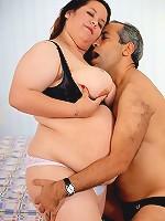 Chubby and Dirty Mature Girl Fucking Mature Guy