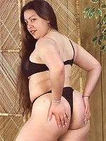 Sexy Chubby BBW Undressing with Tit Flashing Bending Over