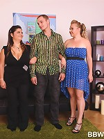 Two unsatisfied BBW ladies dominating a boy