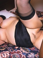 Mya just can't get enough black cock and she needs two huge poles to stuff her plump body full of meat!