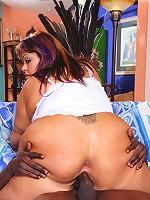 Chubby bubble butt slut gets assfucked by black dick!