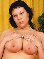 Chubby slut has amazing rack and body built for fucking!