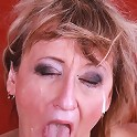 Nasty old granny gets some cock in her hole!