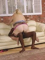 Large, lusty lady sucks a big black cock!