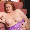 Beefy redhead slut keeps the pounds on with a healthy diet of salty semen!