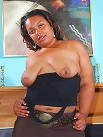 Phat ass black BBW gets ass wrecked by big black cock!