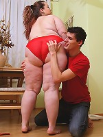 Enormous ass on tasty BBW