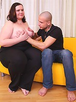 He fucks the BBW and cums on her