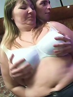 Fatty likes cock from behind