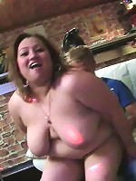 Orgy with fat chicks stripping nude
