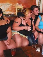 Tremendous BBW cocksucker on her knees