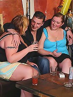 Cocksucking BBW chicks eat up fat meat