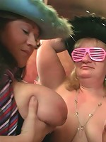 Teasing fat sluts at a great BBW party