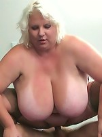 After he takes her picture the BBW beauty gets a good hard fucking from the sexy stud
