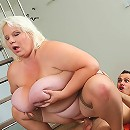 The photographer is enchanted with her BBW beauty and he feels great lust fucking her