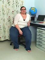Teacher is a fatty for a hard dick