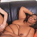 Super sweet looking black fattie seduced a golf coach with her smoking curves