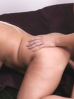 Lovely young BBW with blonde hair and cute face eaten out and dicked by stranger